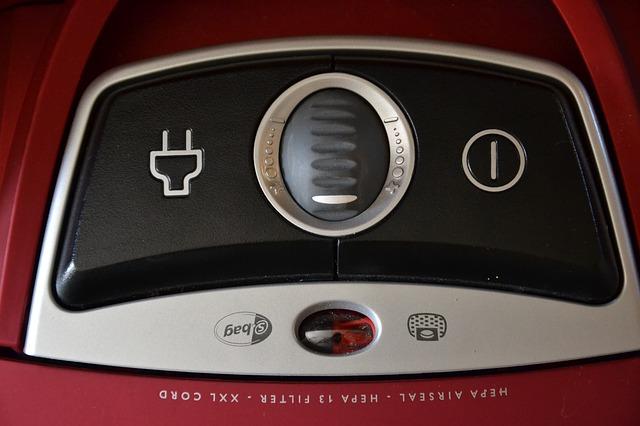 vypínač vysavače